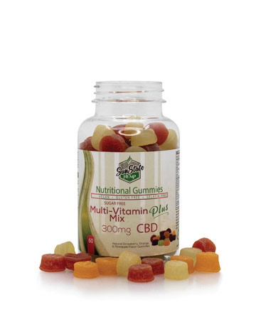 Nutritional Gummy Sugar Free Multi Vitamin Mix - 300mg | Sun State Hemp