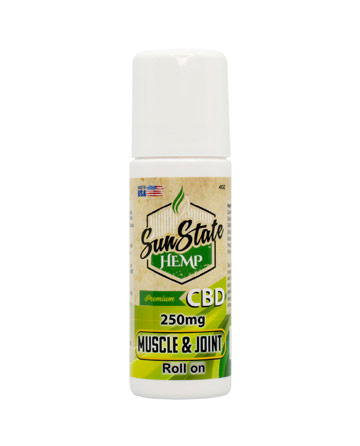 Roll-On Muscle and Joint Cream 250mg | Sun State Hemp