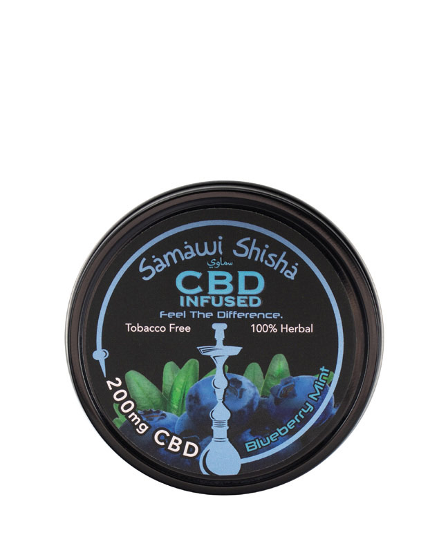CBD Samawi Shisha Blueberry Mint 200mg