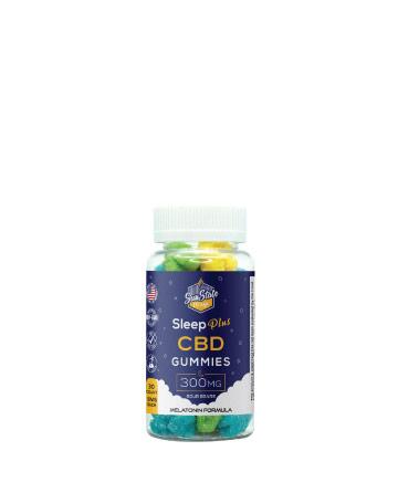 CBD Sleep Plus Gummy Sour Bears 30pcs 300mg | Sun State Hemp