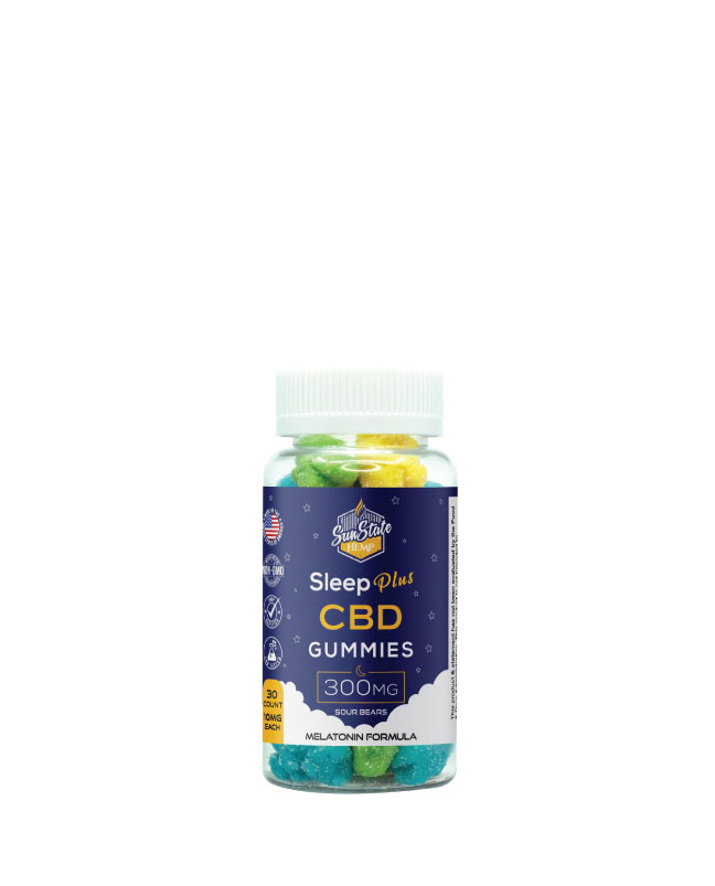 CBD Sleep Plus Gummy Sour Bears 30pcs 300mg