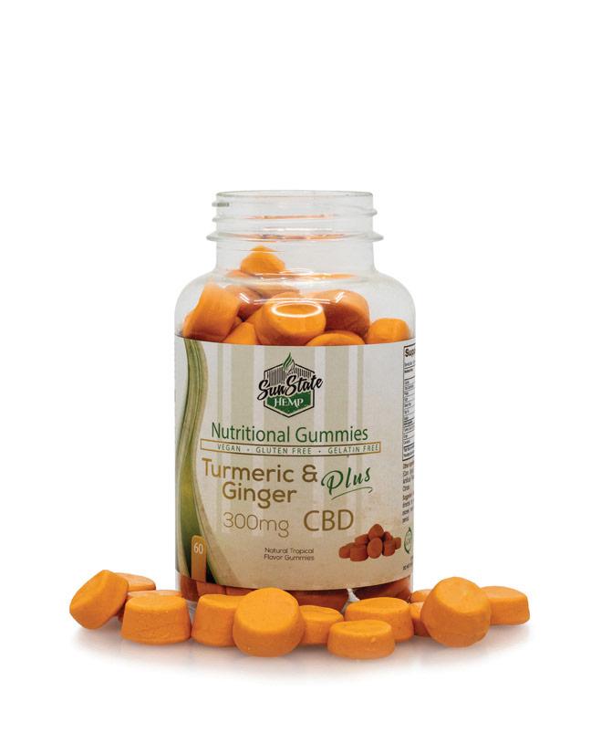 Nutritional Gummy Turmeric & Ginger -300mg | Sun State Hemp