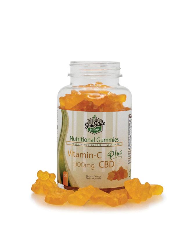 Nutritional Gummy Vitamin C Bears - 300mg | Sun State Hemp