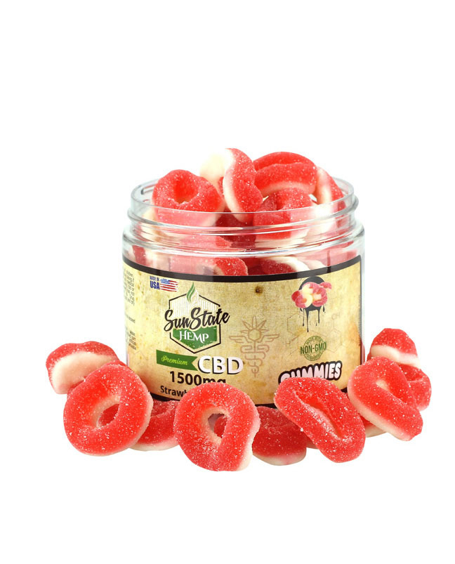 Strawberry Rings 1500mg | Sun State Hemp