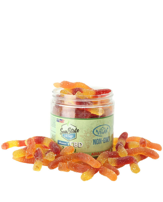 Organic Gummy Worms (Vegan) 750mg | Sun State Hemp