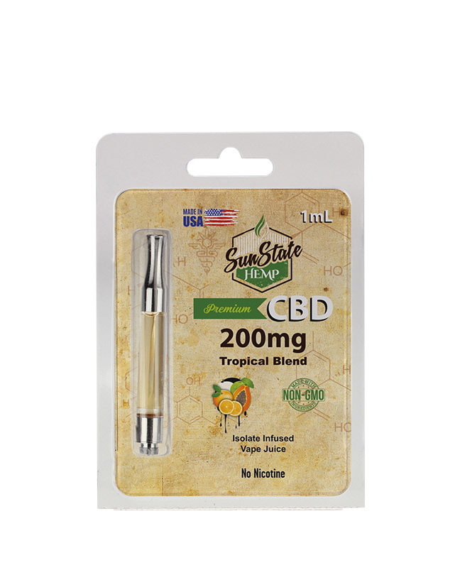 Pre-Filled 1ml Cartridge - Tropical Blend 200mg | Sun State Hemp