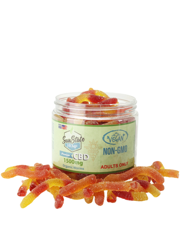 Organic Gummy Worms (Vegan) 1500mg | Sun State Hemp