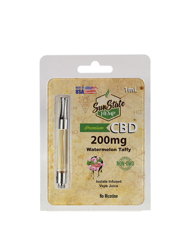 Pre-Filled 1ml Cartridge - Watermelon Taffy 200mg | Sun State Hemp