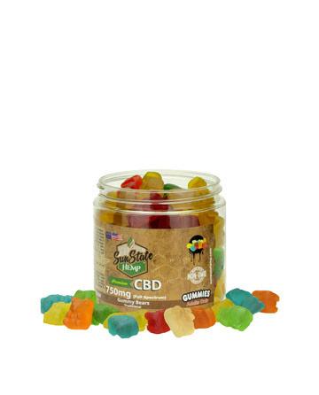 Gummy  Full Spectrum Clear Bears  750mg | Sun State Hemp